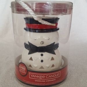 NWT Yankee Candle Snowman Tealight Decoration
